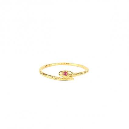 momocreatura Snake Ring Gold Ruby(モモクリアチュラ ヘビリング ゴールド ルビー)