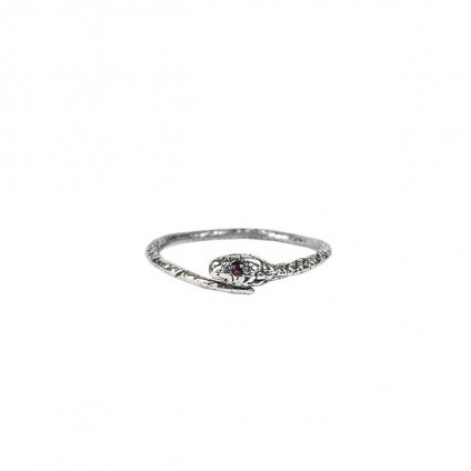 momocreatura Snake Ring Silver Ruby(モモクリアチュラ ヘビリング シルバー ルビー)