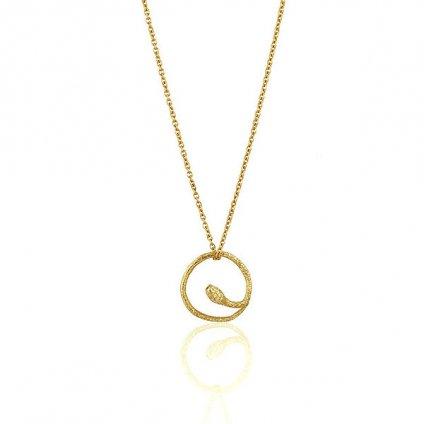 momocreatura Round Snake Necklace Gold(モモクリアチュラ ラウンドヘビネックレス ゴールド)