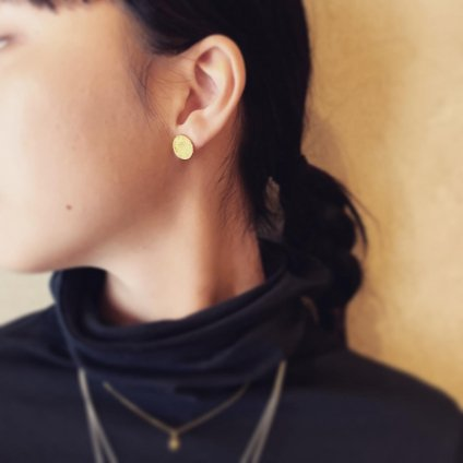 momocreatura Moon Disc Earrings Silver(モモクリアチュラ ムーンピアス シルバー)