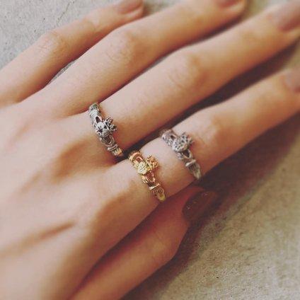 momocreatura Claddagh Ring Silver Ruby(モモクリアチュラ クラダリング シルバー ルビー)