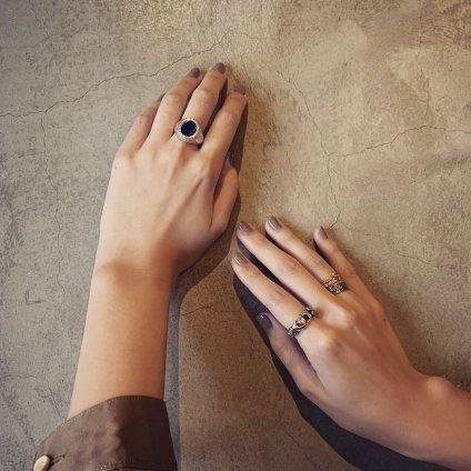 momocreatura Fede Gimmel Heart Ring Diamond(モモクリアチュラ ハート ギメルリング ダイヤモンド)