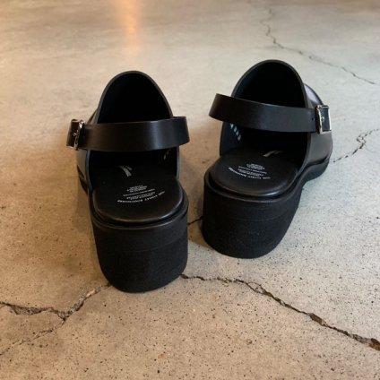 BEAUTIFUL SHOES Single Belt Clogs(ビューティフルシューズ シングルベルト クロッグ)Black