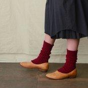 【限定品】ikkuna/suzuki takayuki gara-bou socks(イクナ/スズキタカユキ ガラボウソックス)Bordeaux
