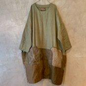 VINCENT JALBERT Large Army Patch Dress  (ヴィンセント ジャルベール アーミーパッチドレス ) Khaki