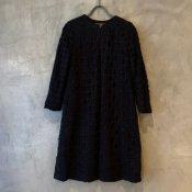 VINCENT JALBERT Lace Long Jacket(ヴィンセント ジャルベール レースロングジャケット)Black