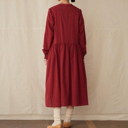 【限定品】ikkuna/suzuki takayuki tucked one-piece (イクナ/スズキタカユキ タックトワンピース)Bordeaux