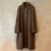 VINCENT JALBERT Coat Harris Tweed Washed (ヴィンセント ジャルベール ハリスツイード コート ) Khaki