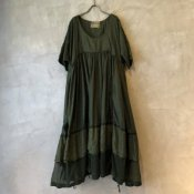 VINCENT JALBERT Parachute Dress L/S(ヴィンセント ジャルベール パラシュートドレス)Green