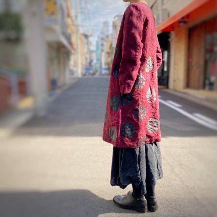 VINCENT JALBERT Dots Coat(ヴィンセント ジャルベール ドットコート)Dark Red