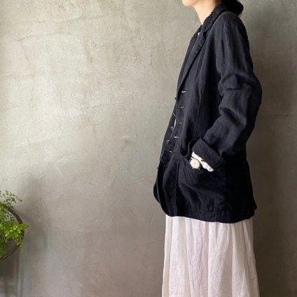 VINCENT JALBERT Lace Collar Jacket(ヴィンセント ジャルベール レースカラージャケット)Charcoal