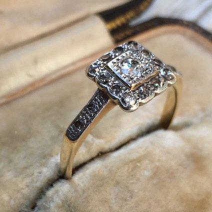 1900〜20's Diamond Antique Ring (1900〜20's ダイヤモンド アンティークリング)