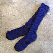 ikkuna/suzuki takayuki gara-bou socks(イクナ/スズキタカユキ ガラボウソックス)Ultramarine Blue