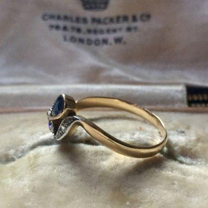 1900〜30's Sapphire Diamond Antique Ring (1900〜30's サファイア ダイヤモンド アンティークリング)
