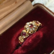1861's Ruby Pearl Antique Ring (1861年 ルビー パール アンティークリング)