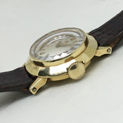 OMEGA (オメガ)14KYG 金無垢 カットガラス
