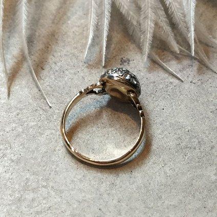 Victorian Rose Cut Diamond Antique Ring (ヴィクトリアン ローズカットダイヤモンド アンティークリング)