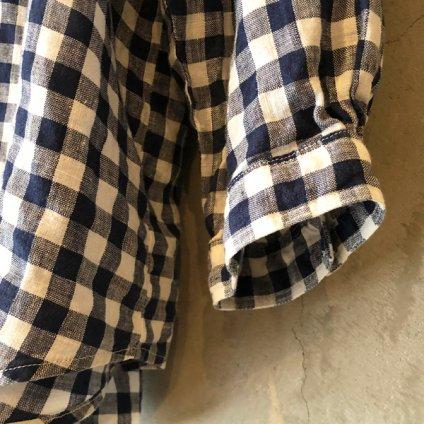 ikkuna/suzuki takayuki gathered blouse �(イクナ/スズキタカユキ ギャザードブラウス�)Checkered