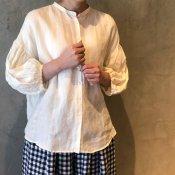 ikkuna/suzuki takayuki lantern-sleeve blouse �(イクナ/スズキタカユキ ランタンスリーブブラウス�)White