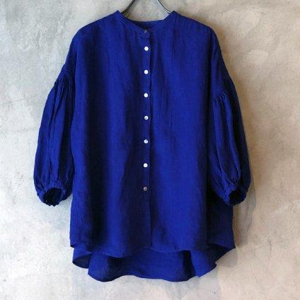 ikkuna/suzuki takayuki lantern-sleeve blouse�(イクナ/スズキタカユキ ランタンスリーブブラウス�)Ultramarine Blue