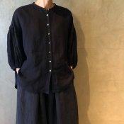 ikkuna/suzuki takayuki lantern-sleeve blouse�(イクナ/スズキタカユキ ランタンスリーブブラウス�)Charcoal Gray
