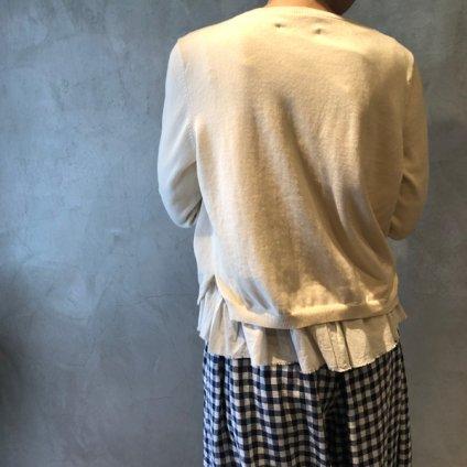 ikkuna/suzuki takayuki layered cardigan(イクナ/スズキタカユキ レイヤードカーディガン)Nude