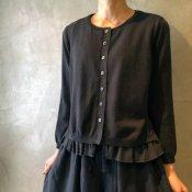 ikkuna/suzuki takayuki layered cardigan(イクナ/スズキタカユキ レイヤードカーディガン)Charcoal Gray