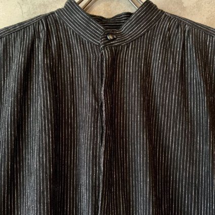 <img class='new_mark_img1' src='https://img.shop-pro.jp/img/new/icons13.gif' style='border:none;display:inline;margin:0px;padding:0px;width:auto;' />【予約販売】suzuki takayuki pesant dress ii(スズキタカユキ ペザントドレスii)Black Stripe