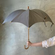 DiCesare Designs(ディチェザレデザイン) 晴雨兼用日傘 Kabocha 1TONE Gray