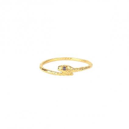 momocreatura Snake Ring Gold Sapphire(モモクリアチュラ ヘビリング ゴールド サファイア)