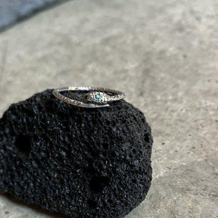 momocreatura Snake Ring Silver Emerald(モモクリアチュラ ヘビリング シルバー エメラルド)