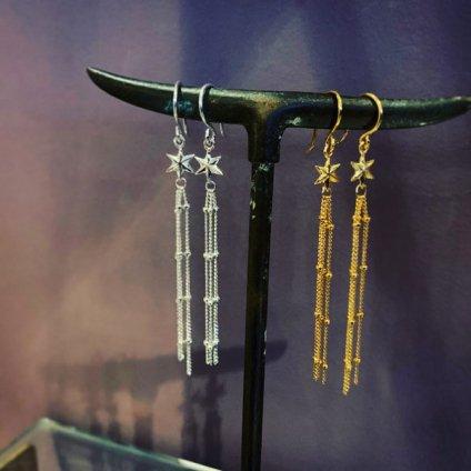 momocreatura Shooting Star Earrings Silver(モモクリアチュラ 流れ星ピアス シルバー)