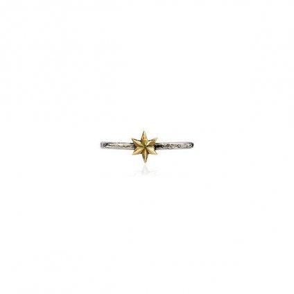 momocreatura Mini Star Ring 9KYG×Silver(モモクリアチュラ ミニスター リング)9KYG×シルバー