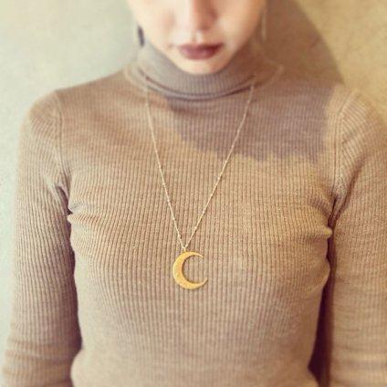 momocreatura Crescent Moon Ball Chain Necklace Gold×Silver(モモクリアチュラ 三日月 ボールチェーンネックレス ゴールド×シルバー)