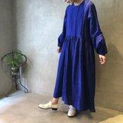 ikkuna/suzuki takayuki pullover dress(イクナ/スズキタカユキ プルオーバードレス)Ultramarine Blue