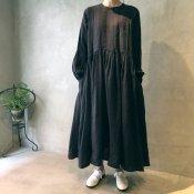 ikkuna/suzuki takayuki pullover dress(イクナ/スズキタカユキ プルオーバードレス)Charcoal Gray