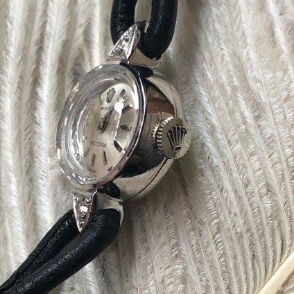ROLEX PRECISION(ロレックス プレシジョン)18KWG ダイヤ2石 純正尾錠付