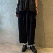suzuki takayuki wide legged pants(スズキタカユキ ワイドレッグドパンツ)Black/Unisex