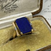 1920's 15K/Lapis Lazuli Antique Ring(1920年代 15K/ラピズラズリ アンティークリング)