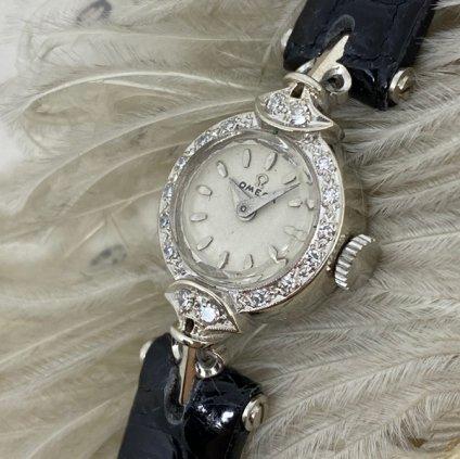 OMEGA (オメガ)14KWG ダイヤモンド16石