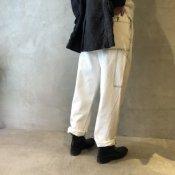 ikkuna/suzuki takayuki painter pants(イクナ/スズキタカユキ  ペインターパンツ)White Washed