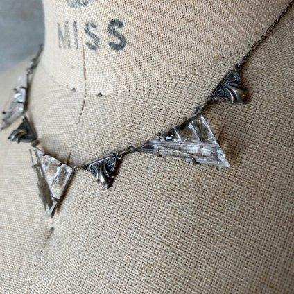 1910's Art Deco Crystal Glass Necklace(1910年代 アールデコ クリスタルガラス  ネックレス)