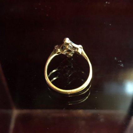 Edwardian 18K Diamond/Saphire Antique Ring(エドワーディアン 18K ダイヤモンド/サファイア アンティークリング)