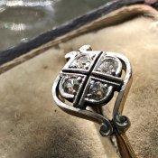 Edwardian 18K Diamond Antique Ring(エドワーディアン 18K ダイヤモンド アンティークリング)
