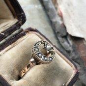 Victorian 9K Pearl Moon & Star Ring(ヴィクトリアン 9K パール 月と星 リング)