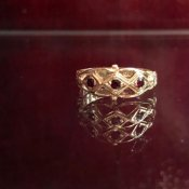 c.1981 9K Garnet Ring(1981年 9K ガーネット リング)