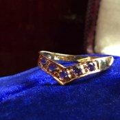 1950's 9K Amethyst Ring(1950年代 9K アメシスト リング)