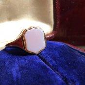1930's-1940's 9K Carnelian Ring(1930〜40年代 9K カーネリアン シグネットリング)