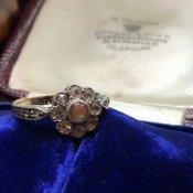 1920's 9K Sapphiret Cluster Ring(1920年代 9K サフィレット クラスターリング)