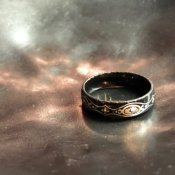1950's Austrian Deadstock Enamel Ring Black(1950年代 オーストリア エナメル リング 黒)
